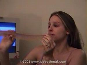 Heather practices deepthroat