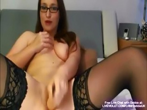 Debbie is a yummy geeky chick who gets off with a  few of her favorite sex toys
