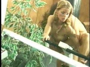 Trampoline sex with blond hottie