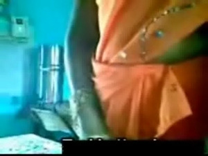 Orange Saree Aunty with  Uncle  ... free