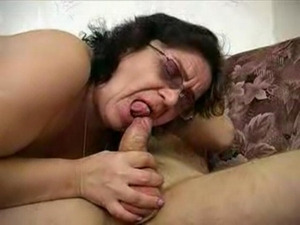 Chubby Granny in Glasses Fucks  ... free