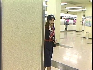 Special service of hot Japanese stewardess