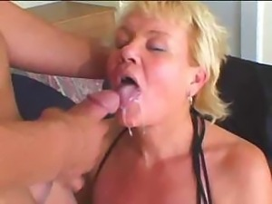 Blonde Granny Gets Some Young Cock
