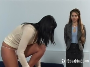 Girl gets some hard ass spanking free