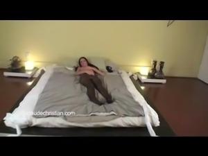 Skinny Bitch Bound To Cum