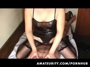 Amateur girlfriend handjob and anal fuck with cumshot