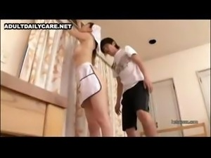 A horny Japanese nurse gives it up for some guys in a hospital room
