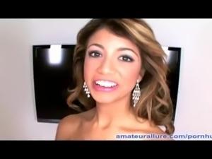 Petite Latina Teen Milks Cum Into Mouth