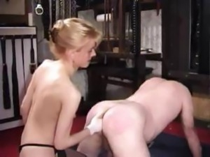 Mistress Karin Fisting Her Male Slave