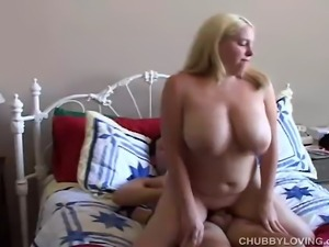 Gorgeous chubby amateur has lovely big tits and a tight little pussy