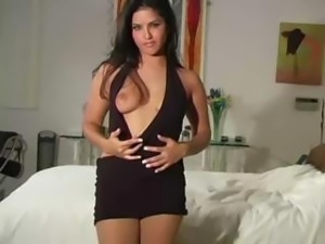 Sunny Leone Pantyhose Tease