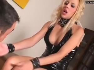 Hot Blonde Dominatrix