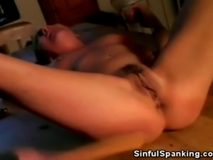 We have this mature babe in this sizzling clips as she gets spanked on the...
