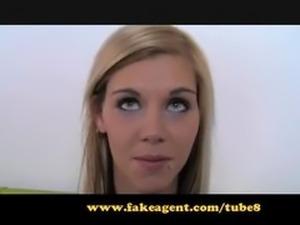 FakeAgent Skinny model wants to be pornstar.