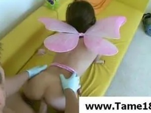 Fetish scene with a teen girl getting fucked
