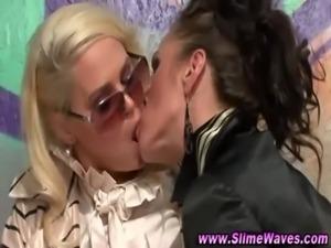Messy bukkake fetish lesbian sluts free