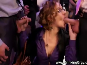A group of european pornstars are fuckings at party