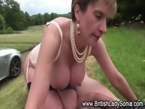 Horny british mature slut gets  ... free