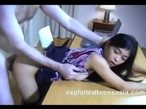 Mary-Jane Filipino Amateur Consented Rough Sex On Desk