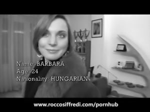 Rocco Siffredi Slaps an Amateur then Cums on Her