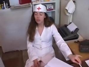 French nurse Jenny fucks a doctor
