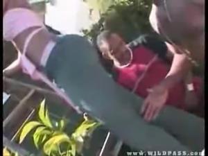 Phat assed girl gets gangbanged