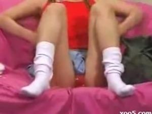 Changing socks and panties