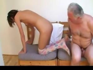 Old man fucks young girl 1
