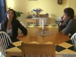 Horny Busty MILF Is Seduced By Her Sons Best Friend