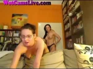 2 Webcam Lesbians and a Strapon ... free