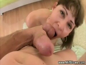 Mommy sucks cock and horny balls free