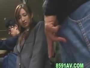 schoolgirl fucked with bus geek in the elevator