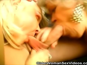 We have this two grannies on this sizzling clip as our stud arrives, these...