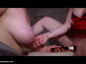 A FemDom gets Her lesbian slave to choose the play with dice.