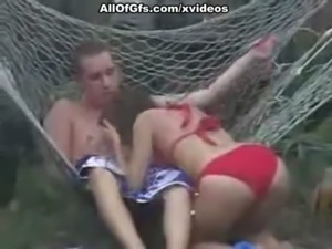 Fantastic sex action in hammock free