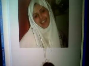 Cumshot Tribute to Arab faciallover Chaymae