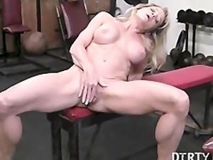 Mandy Gym Masturbation