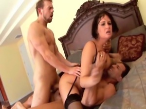 Two guys who can really fuck give it to her in all her holes. Lots of anal,...