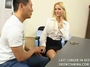 Japanese guy fucks young office ... free