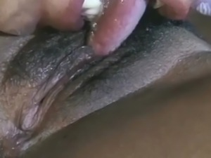 She got her enormous tits covered with cum...after some hard fucking