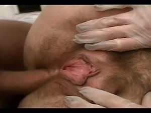 BBW German cock craving whore is getting her hairy pussy and ass played with...