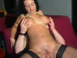 Horny brunette with monster tits gets a hard cock up her tight craving ass...