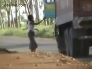 Hidden cam video footage of lorry drivers having fun with highway callgirls