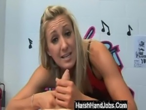 Harsh handjob from Angel Long free