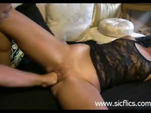 Extreme housewife deep fisted in her bucket pu