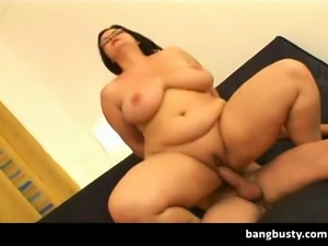 Naughty fat chubby amateur loves to have a big cock between her massive big...