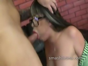 Crazy latina signs up for extremely rough and degrading pornography