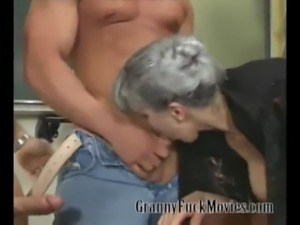 Granny party with a lot of dicks free