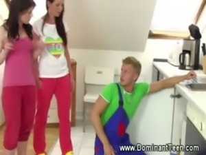Plumber gets ravaged by domina  ... free
