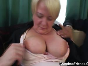 Two buddies pick up a granny